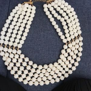 NWT cream multistrand statement necklace